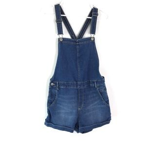 Divided Jean Shorts Bib Overalls Women's Size 12